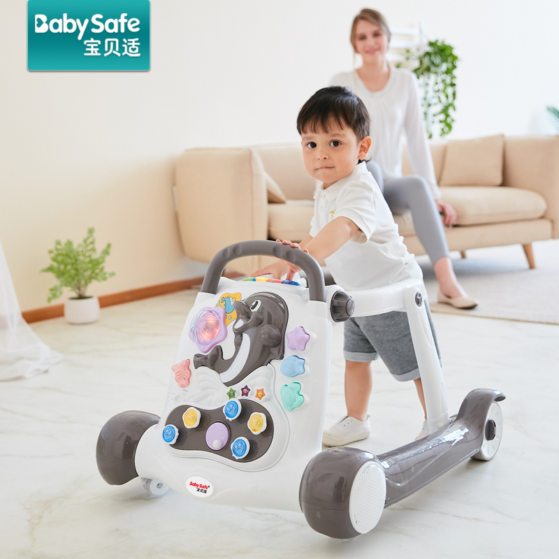 Baby Walker Multi Functional Anti-rollover Baby Walker With Music Baby Toy Baby First Steps Car Toddler Trolley Sit-to-Stand