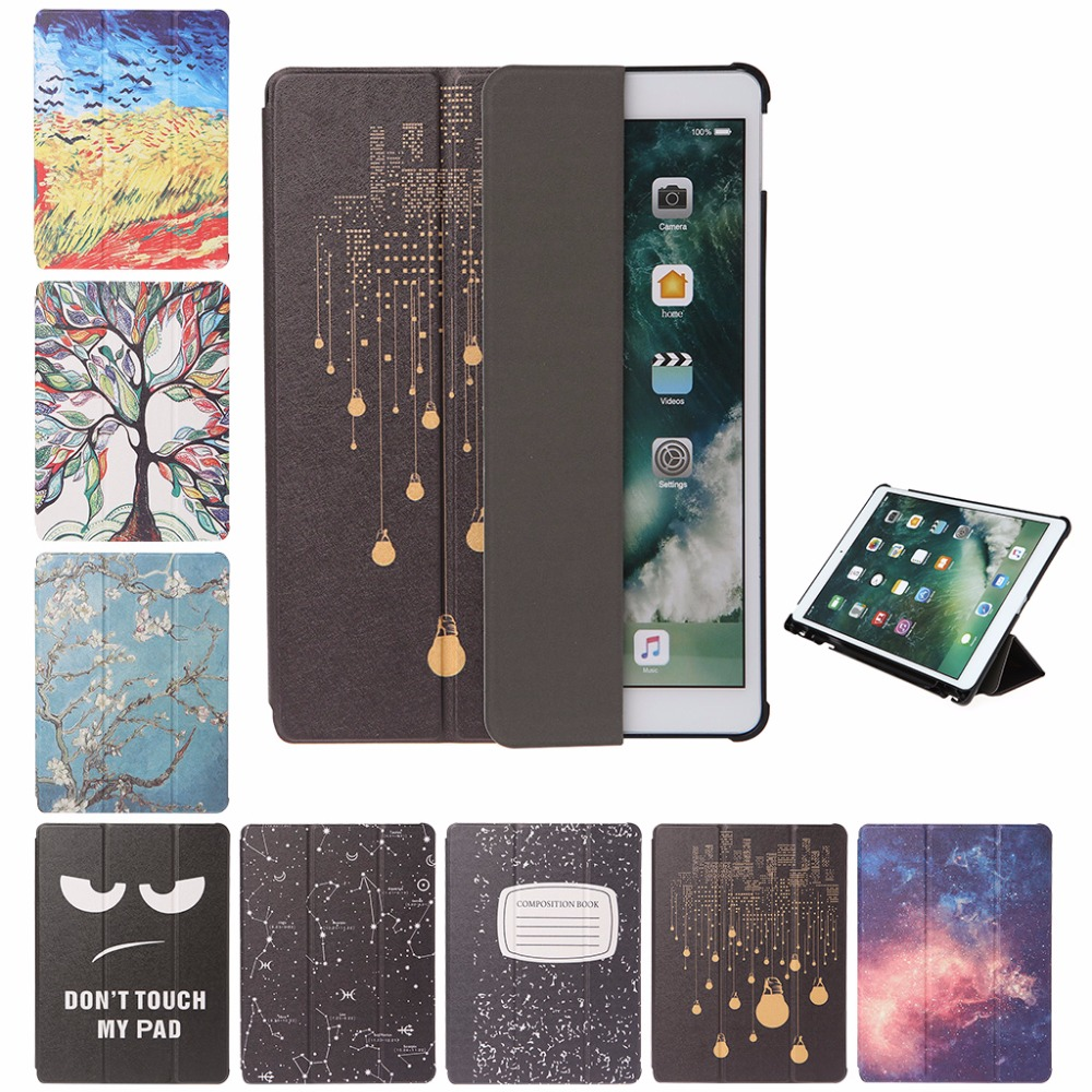 Fashion Faux Leather Three Flip Stand Tablet Case With Pencil Holder Auto Sleep/Wake For Apple iPad Pro 10.5 Tablet Cover C26
