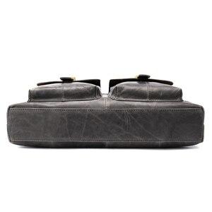 Image 3 - WESTAL Large Leather Briefcases Mens Genuine Leather Briefcase for Laptop 14 Messenger Bag Men Laptop Bags Office/Work Bag 8520
