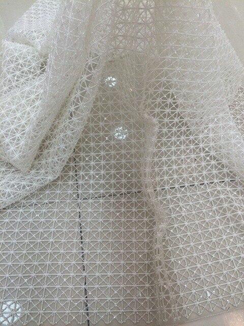 Высококачественная кружевная ткань для свадебного платья, расшитая LJY 53103, с бусинами