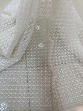 قماش دانتيل أفريقي مطرز عالي الجودة LJY 53103 مع خرز كامل لفستان الزفاف