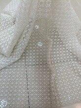 Super qualität LJY 53103 bestickt afrikanisches spitzegewebe mit voller perlen für brautkleid