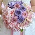 2017 новый SSYFashion невеста, холдинг букет свадебные букеты фотографии сладкий романтический шелковый цветок свадебный букет реквизит замуж