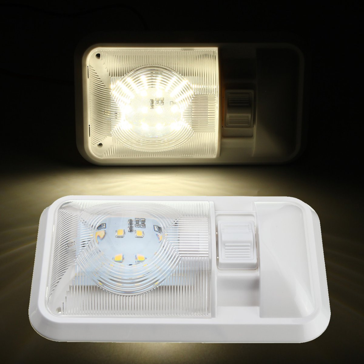 цена на Newest White 24 LED Roof Ceiling Interior Reading Dome Light For Camper Car RV Boat Trailer 12V DC