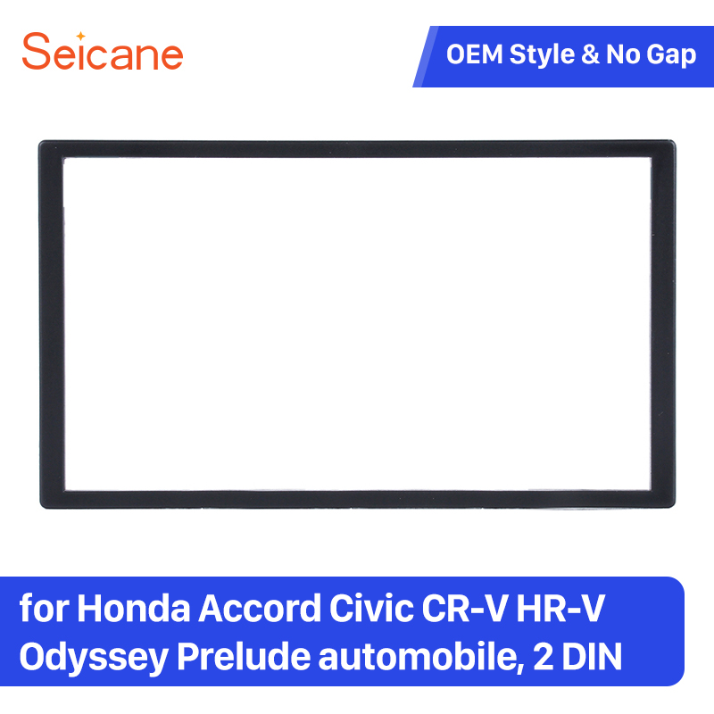 Seicane Unversal 173*98 Double Din Stereo Fascia Frame Kit for <font><b>Honda</b></font> Accord Civic CR-<font><b>V</b></font> <font><b>HR</b></font>-<font><b>V</b></font> Odyssey Prelude Trim Bezel image