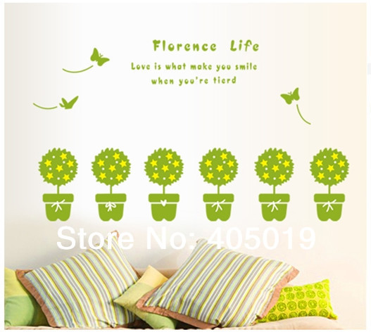 """Buy Me Flowers Quote: Cute 110x60cm (43""""x24) AY7144 Vinyl Wall Quotes Home"""