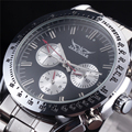 JARAGAR Sport Mens Steel Watch Clock Fashion Mechanical Automatic Wristwatch Men Famous Design Male Luxury Business Watches