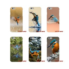 For iPhone X XR XS MAX 4 4S 5 5S 5C SE 6 6S 7 8 Plus Animal Bird Kingfisher Accessories Phone Cases Covers(China)