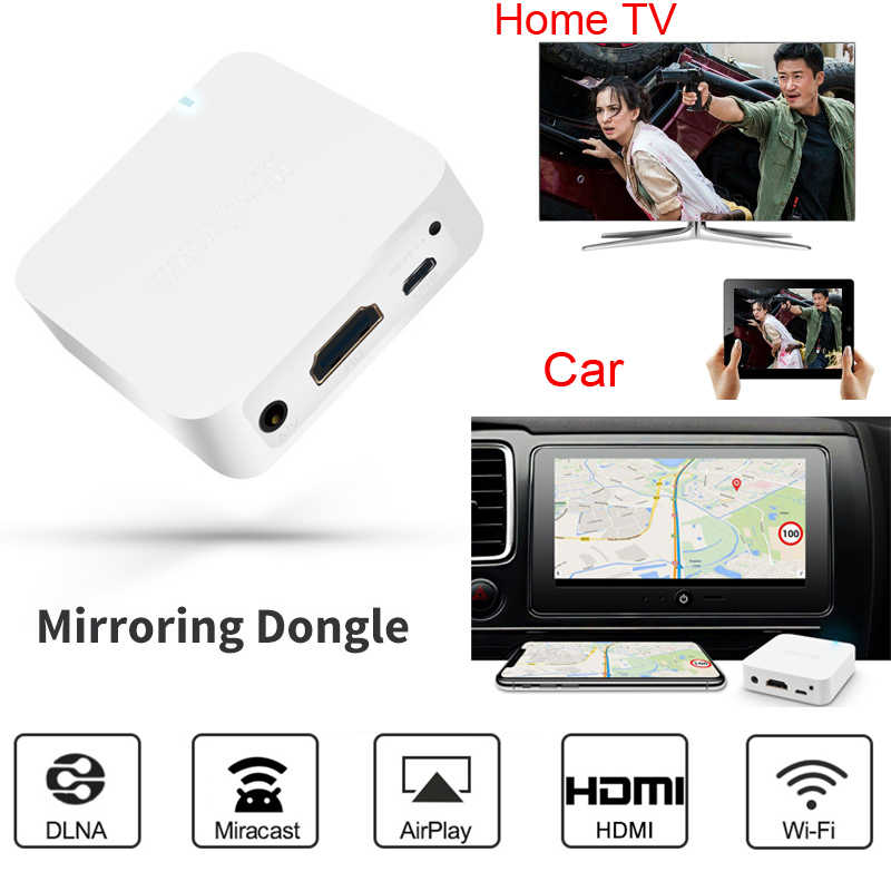 Wireless Wifi Display Adapter HDMI audio video Stick Airplay Dongle Miracast Anycast DLNA for iphone andriod phone to Car & TV