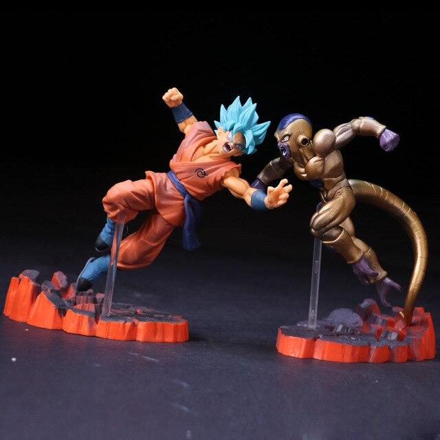 14 cm Dragon Ball Z Super Saiyan Goku Freeza Brinquedos Juguetes PVC Action Figure Collectible Modelo Boneca Brinquedos para Crianças