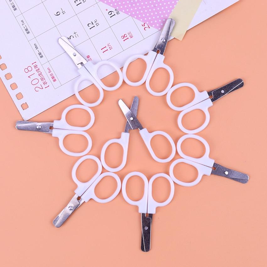Mini Safety Round Head Plastic Scissors Student Kids Paper Office Cutting Supplies For Kindergarten School