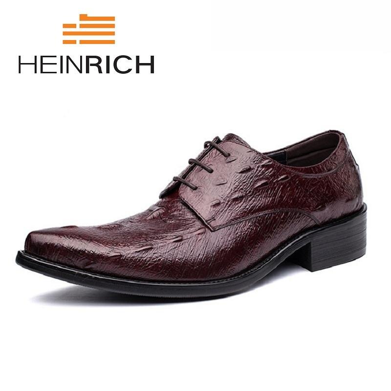 Homens Formal Black Marrom Preto brown Heinrich Sapatos Qualidade De Homme Negócio Do Chaussure Se Masculinos Couro Vestem 2018 Dos Genuíno Top Mariage RRgBO