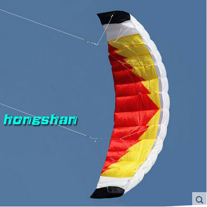New High Quality Sports  2 M  Dual Line Parafoil Parachute Kites  Sports Beach With Kite Handle And String Easy To Fly