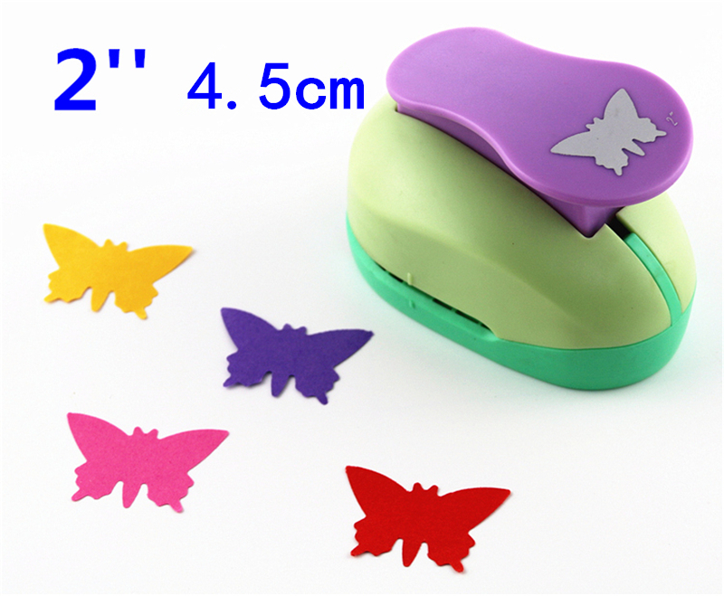 Butterfly 2'' Craft Punch Paper Cutter Scrapbook Child Craft Tool Hole Punches Embossing Device Kid  S2935-3