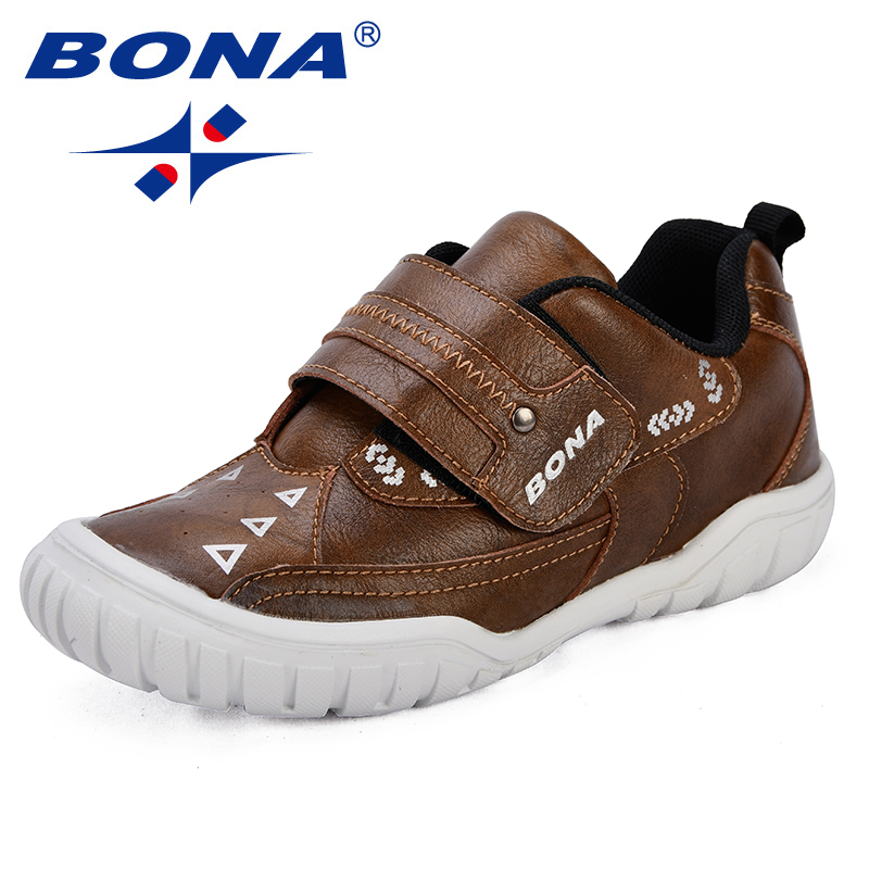 BONA New Arrival Classics Style Children Sneakers Synthetic Boys Casual Shoes Outdoor Hook & Loop Girls Leisure Shoes Light Soft