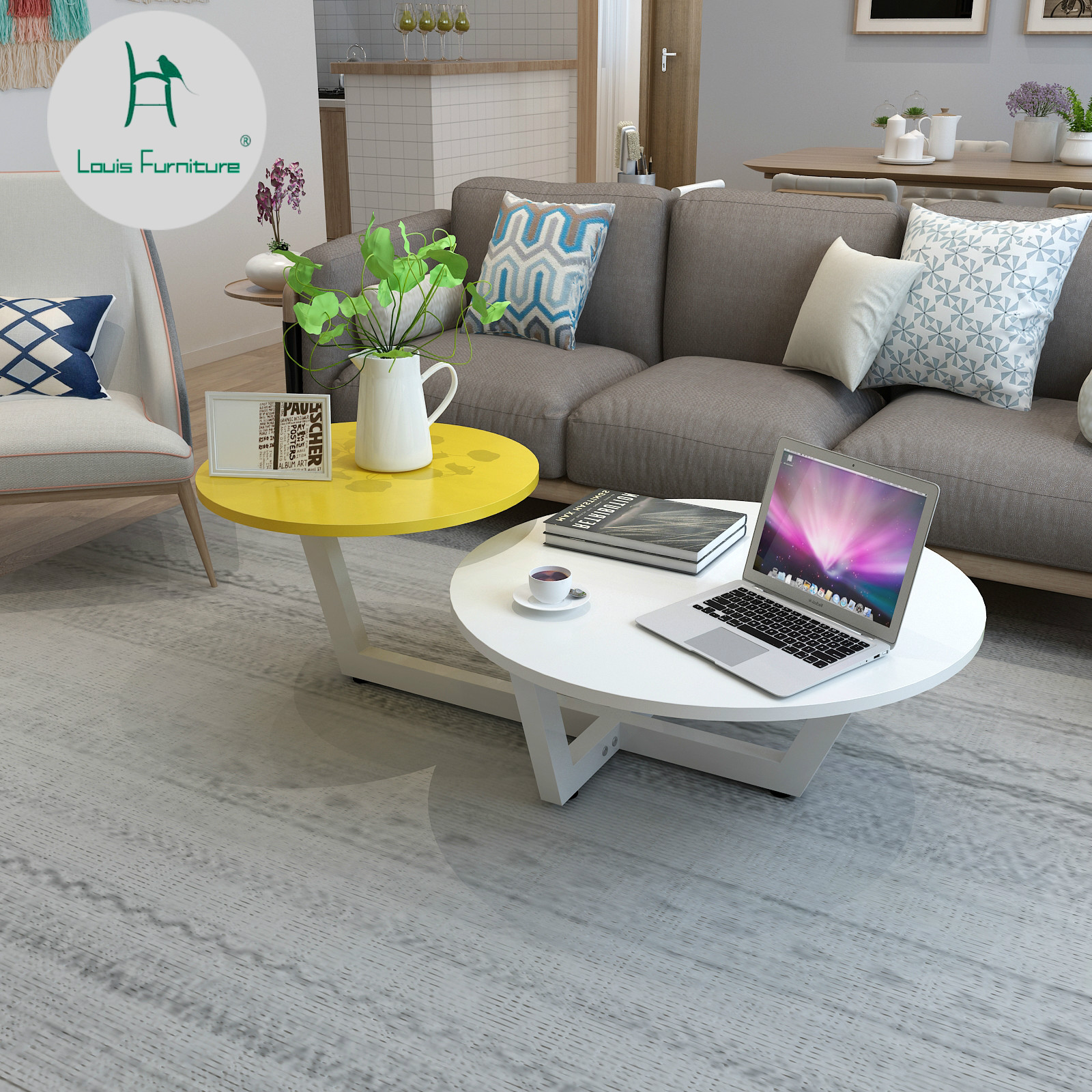 Us 59 9 Louis Fashion Coffee Tables Modern Minimalist Living Room Small Apartment Mini European Style In From Furniture On Aliexpress