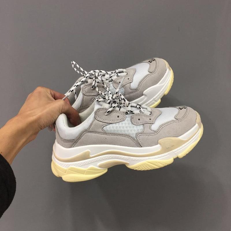 2019 Spring autumn fashion men vintage shoes Suede leather platform shoes men sneakers white Trainers femme tenis masculino