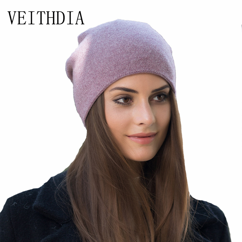 VEITHDIA women autumn winter knitted hats cute kitty beanie hat for women girls winter wool cap Skullies gorras 607 veithdia women autumn winter knitted hats cute kitty beanie hat for women girls winter wool cap skullies gorras 607