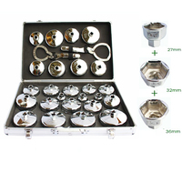27pcs Steel hat type Oil Filter Wrench set Engine Box Key Cap Type Oil Wrench Auto Maintenance Tools Y