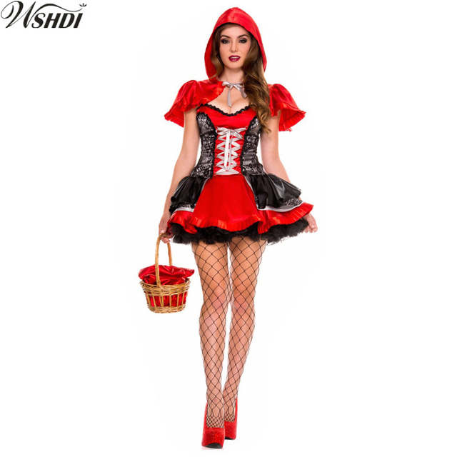 Sexy red riding hood costume