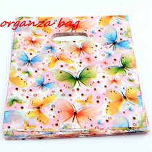 Hot ! 100pcs 25X35cm Jewelry Pouches butterfly Plastic Bags Jewelry Gift Bag  v4