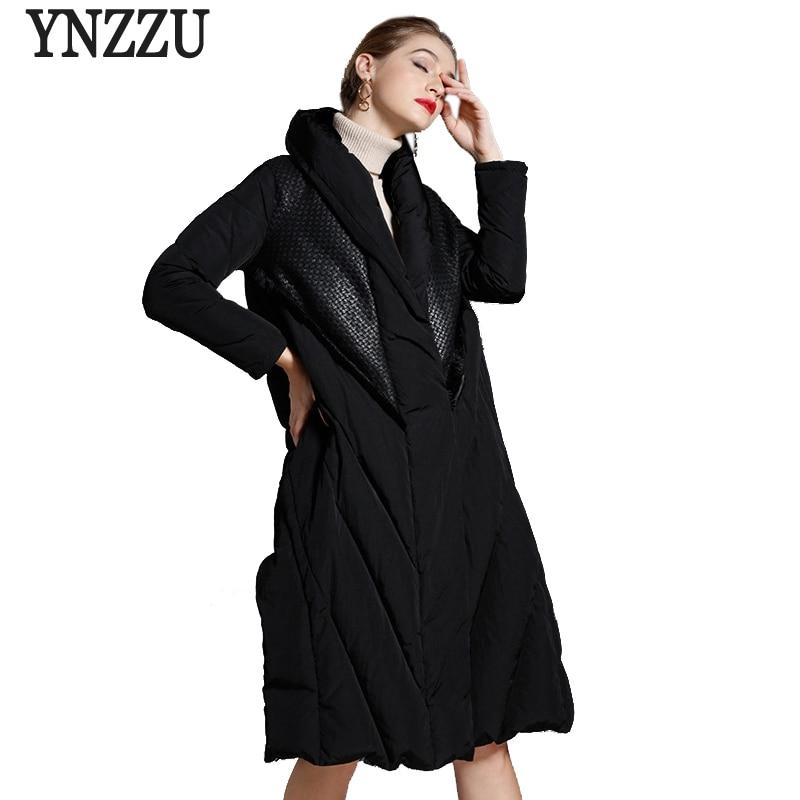 Brand Vintage Women's Down Jacket 2018 Winter Long White Duck Down Coat Women Thicken Warm Woman Outwears High Quality AO741