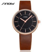 SINOBI Elegant Classic Black Clock Men'S Watch Luxury Top Brand Watches Men Fashion Quartz Watch Relojes Mujer Reloj 2015 AA130