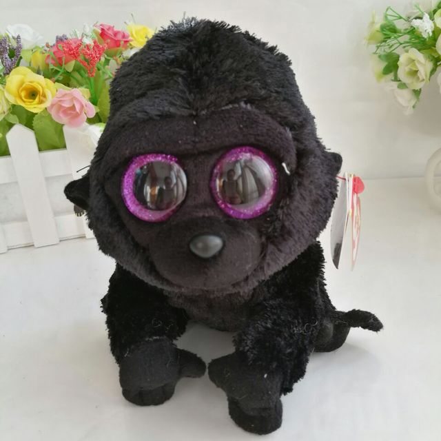 c146b00f536 George gorilla chimpanzee 15CM 6  In Stock Original Ty Beanie Boos Big Eyed  Stuffed Animal Toy Birthday Gift Plush Toy