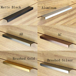 10 Pcs Modern Simple Cabinet Door Edge Handle Wardrobe Drawer AB/AC Hidden  Furniture