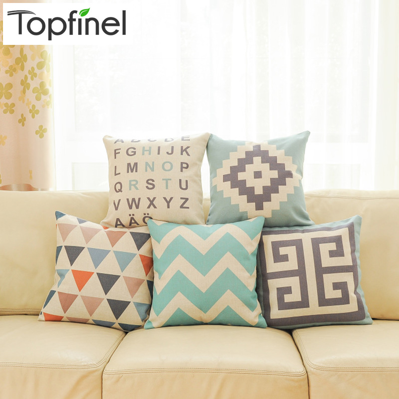 Geometric Decorative throw Pillow case for Sofa covers