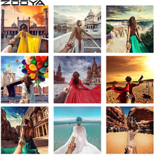 ZOOYA Needlework Diamond Painting Full Drill Hand In Couple Travel Pictures The Embroidery Mosaic Pattern R586