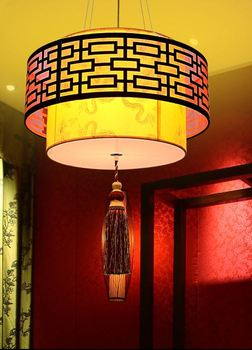 Chinese chandelier sheepskin lamp living room dining room antique lamp study hotel teahouse private room Chinese lamp