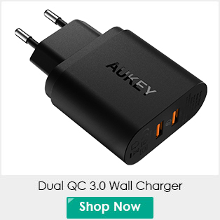 AUKEY 20000mAh Power Bank Mobile External Battery Quick Charge 2.0 Powerbank Dual USB Portable Battery for Phone XiaoMi Huawei