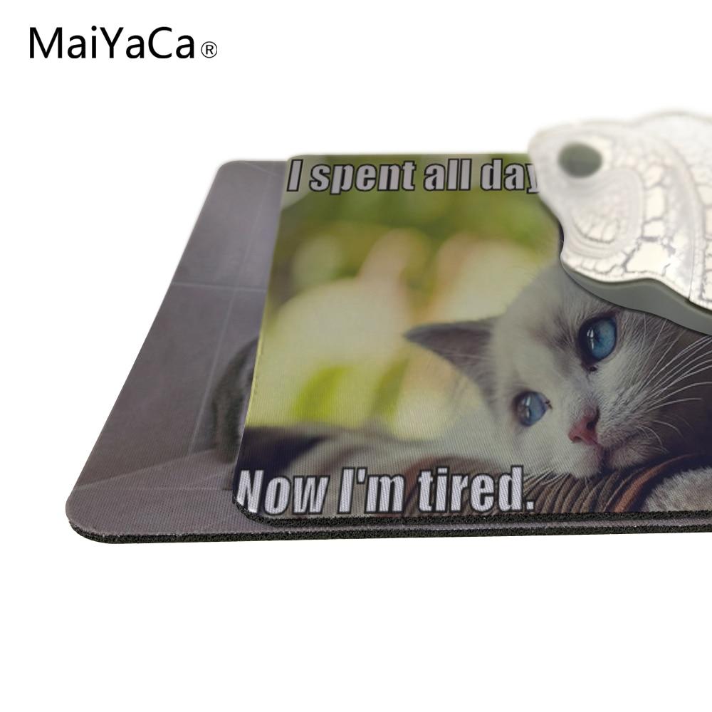 MaiYaCa Animales divertidos Gatos Nuevo tamaño Alfombrilla para - Periféricos de la computadora - foto 2