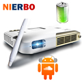 NIERBO LED Mini Portable DLP Projector 1080p Built 15000mAh Battery Interactive Touch Control Android 4.4 WIFI Bluetooth HDMI