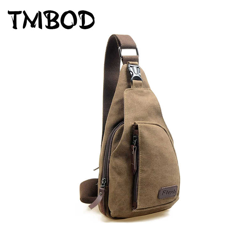Hot 2019 Fashion Vintage Men Crossbody Bags Chest Canvas Water Proof Handbags For Male Military Shoulder Bag Bolsas X0005