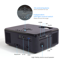 Portable Full HD Video Mini LED Projector for Home Cinema
