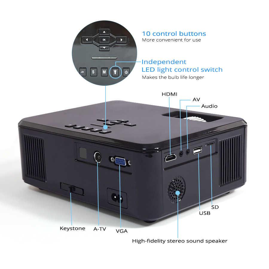 Touyinger X20 брендовый мини-проектор светодиодный full hd 1080P видео проектор портативный домашний кинотеатр ЖК-телевизор умный 3D кинопроектор