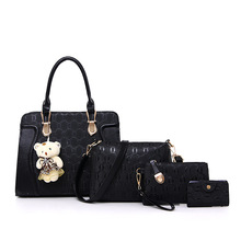 Mrs win Picture Package Four Pieces Set One Shoulder Handbag wallet crossbody bags for women England Style Composite Bag DJB48