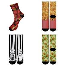Носки Длинные с забавным принтом для женщин и мужчин уличные