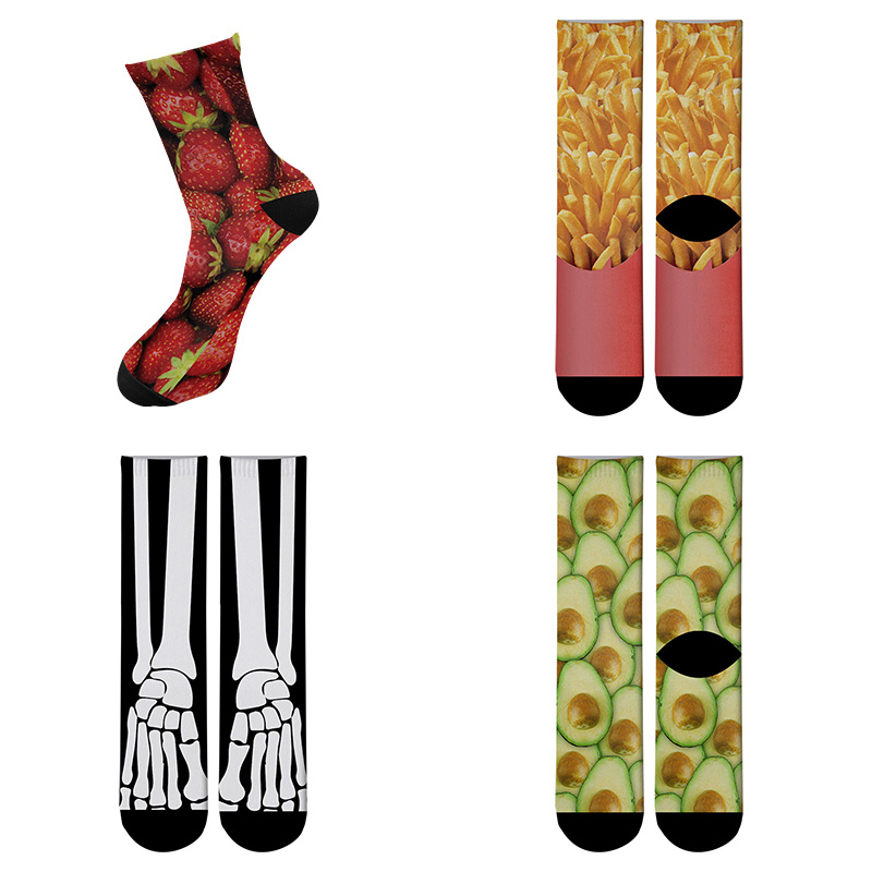 New Design Funny Printed Long Socks For Women Men's Street Funky Long Sock Fashion Novelty Summer Socks Halloween Socks 5ZWL12