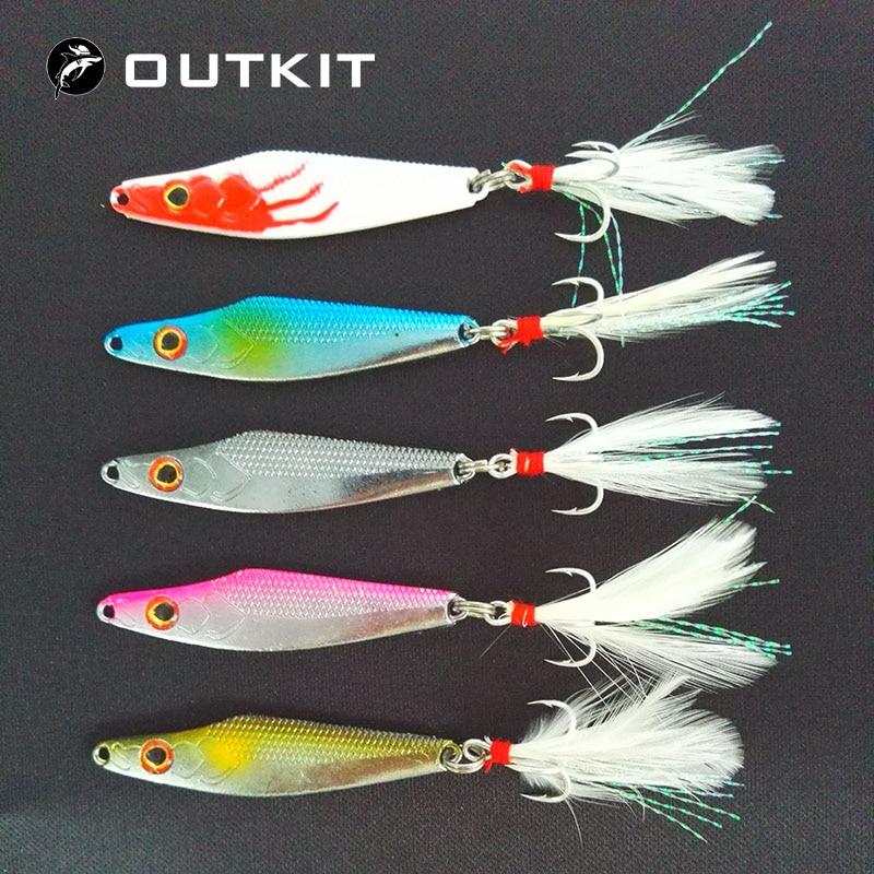 Metal Lure Fishing Spoon 10g//15g Sea Fishing Hard Lure Bait Metal Jigging Lures