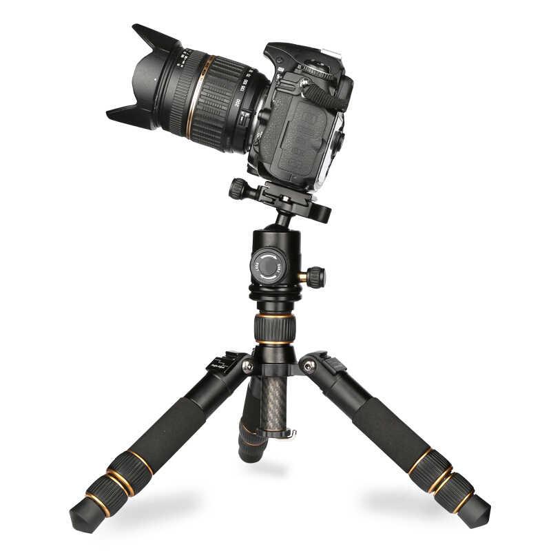 QZSD Q166C 20 см складной настольный мини-штатив из углеродного волокна для камеры мобильного телефона гибкий легкий небольшой штатив для slr