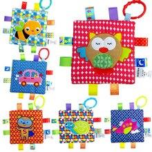 JJOVCE 6 style nouveau-né bébé Appease serviette saisissant doux réconfort poupée jouets pour bébés bébé main serviette hochet jouets 50% de réduction