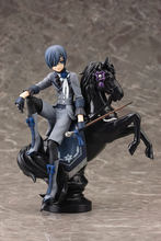 18cm Black Butler Ciel Phantomhive horse Collection model toys Anime Cartoon gift collection free shipping Electronic Pets boy(China)