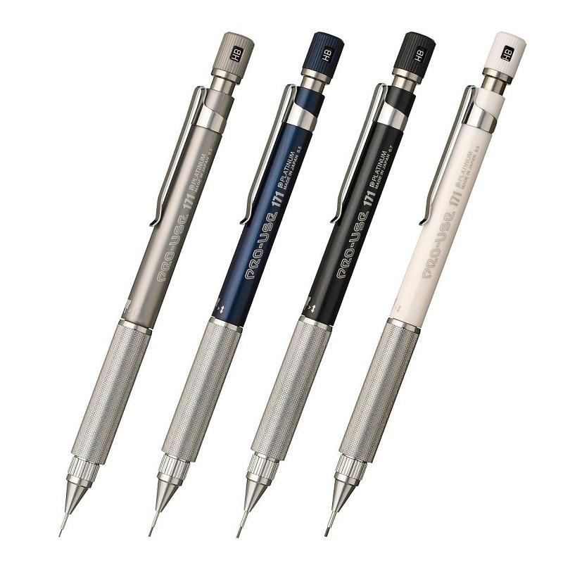 PLATINUM PRO-USE 171 Mechanical Pencil for Drawing MATTE BLACK MSDA-2500 0.5mm