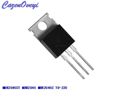10pcs/lot MBR2045CT <font><b>MBR2045</b></font> MBR2045C Schottky & Rectifiers 20A 45V TO-220 new original In Stock image