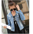 New Fashion 2016 Spring and Autumn  Popular Among Women Denim Jacket Korea Style Jeans Coat  Cowboy Jackets For Women  A155