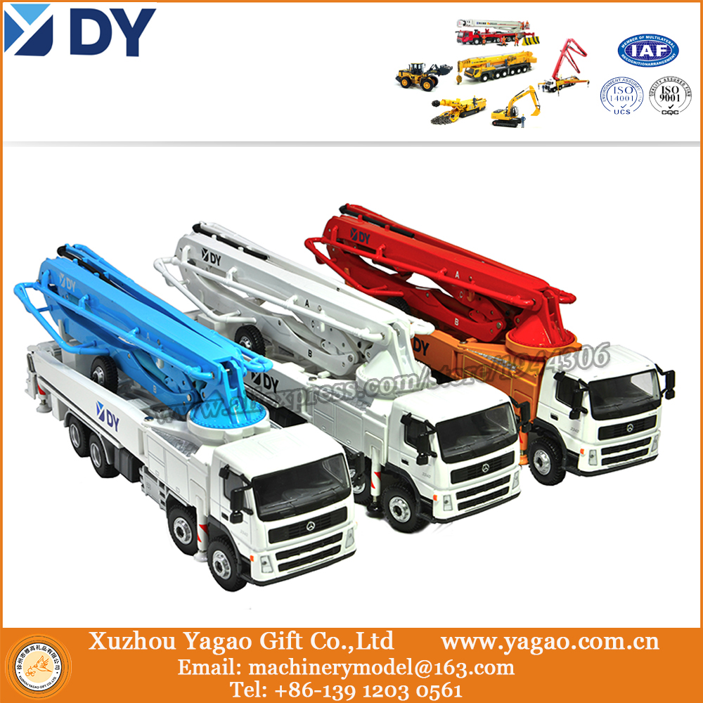 ФОТО 1:50 Scale, Original Korea DY Concrete Pump Truck Model, multi colors, Exhibition Gift, Customer Gift, Collection, Adult Toy