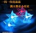 Chegada nova Cor Mudando Novidade Chuk Pentagrama Estrela Piscando LED Night Light Para Quarto Home Decoração Caçoa o Presente
